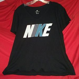 """The Nike Tee"" medium black womens ss shirt"